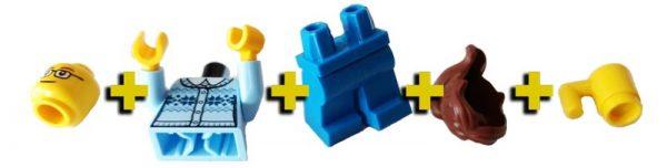 LEGO Mini Fig pieces
