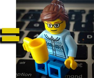LEGO MiniFig built by the author