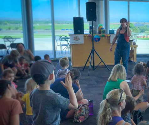 Balloon Museum hosts story and music time for kids.