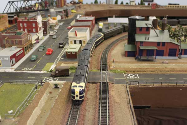 Model train running at Southwest Model Railroad Club