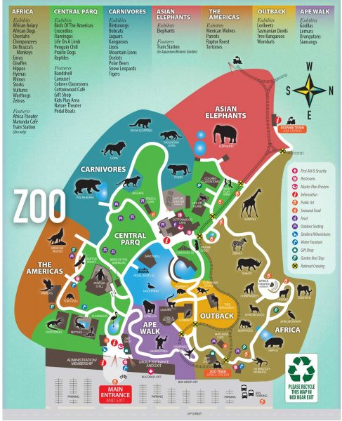 the animal exhibits at the Albuquerque zoo